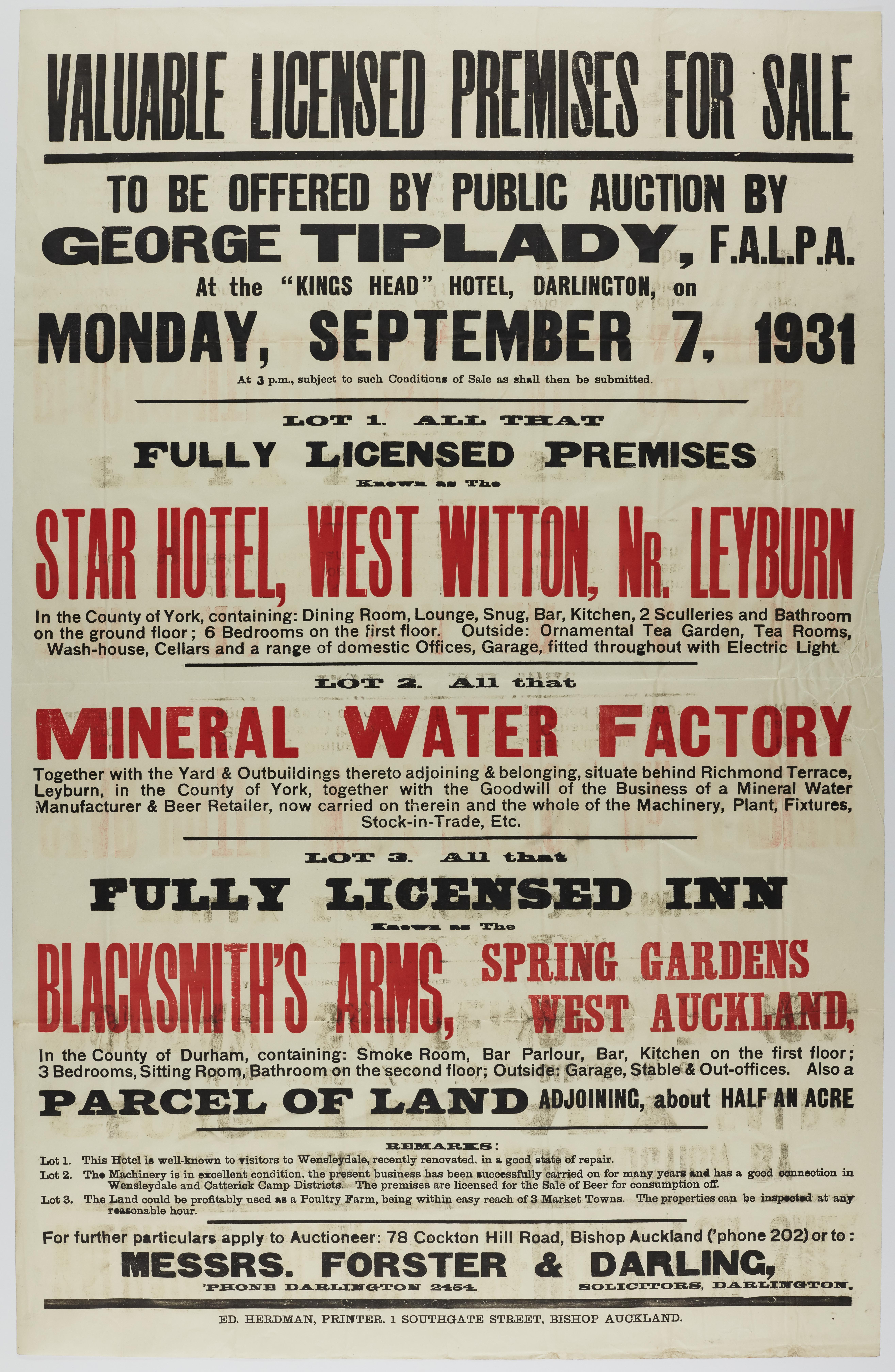 ZPL I [B] 695 Mineral Water Factory Poster | Grounds for